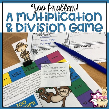 Zoo Problem! A multiplication and division game.
