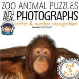 Zoo Animals Puzzle Activities for Math or Literacy Centers with Pictures