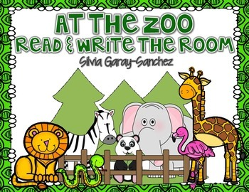 Zoo Read and Write the Room Center