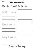 Zoo Recount Activity sheet