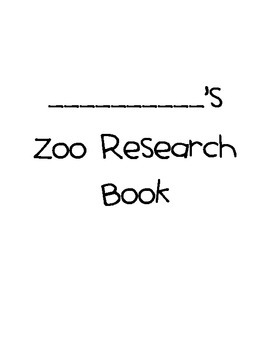 Zoo Research Book