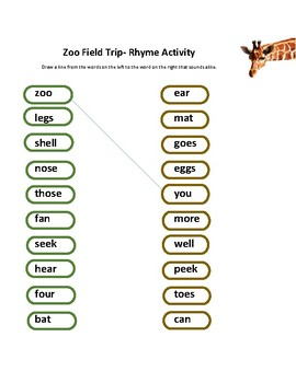 Zoo Rhymes & Montessori Vertebrate Nomenclature