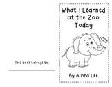Zoo Rhyming Fluency Reader/Poem-What I Learned at the Zoo Today