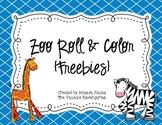 Zoo Roll & Color {Freebie}