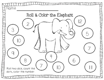 Zoo Roll & Color {Freebie}