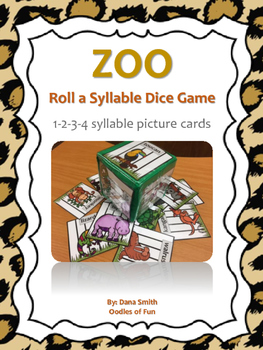 Zoo Roll a Syllable Dice Game