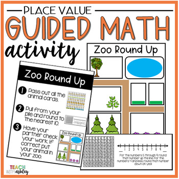 Place Value Guided Math Activity Zoo Round Up