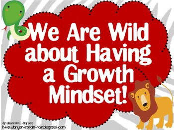 Zoo Safari Growth Mindset Posters (We Are Wild about Having a Growth Mindset!)