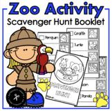 Zoo Scavenger Hunt Booklet