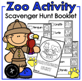 Zoo Scavenger Hunt Booklet
