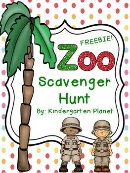 Zoo Scavenger Hunt FREEBIE!
