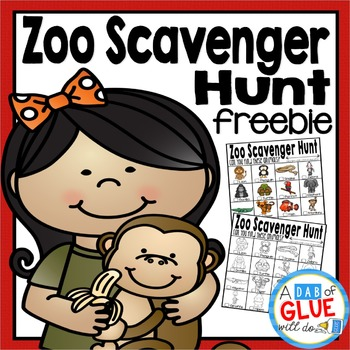 Zoo Scavenger Hunt FREEBIE