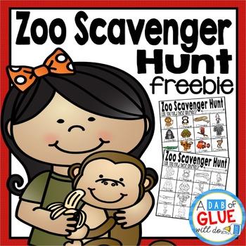 Zoo Scavenger Hunt FREEBIE