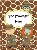 Zoo Scavenger Hunt - Field Trip