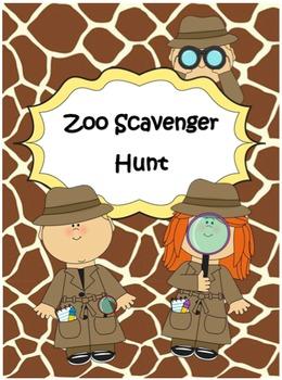 Zoo Scavenger Hunt - Field Trip
