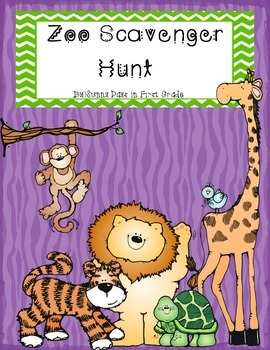 Zoo Scavenger Hunt and Field Trip Notices