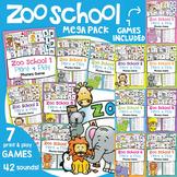 Phonics Games & Activities Pack {Zoo School}