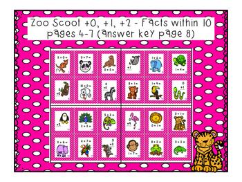 Zoo Scoot Adding 0, 1, 2