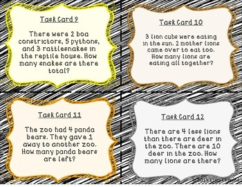 Zoo Scoot Addition & Subtraction Word Problems to 20