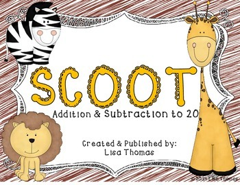 Zoo Scoot Addition & Subtraction to 20