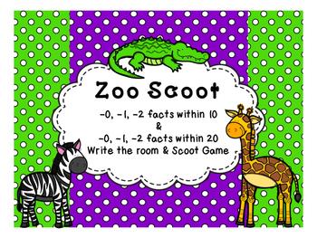 Zoo Scoot Subtracting 0, 1, 2