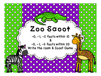 Zoo Scoot Subtracting 0, 1, 2