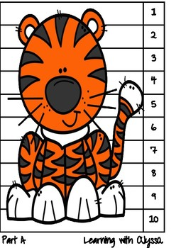 Zoo Self Correcting Number Recognition and Counting Puzzles 1-10