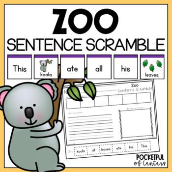 Zoo Sentence Scramble