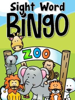 Zoo Sight Word Bingo