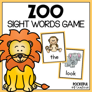 Zoo Sight Word Game