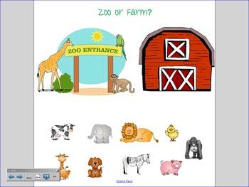 Zoo Smartboard Activities