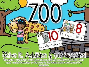 Zoo Solve It, Addition & Subtraction