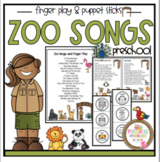 Zoo Songs and Finger Play plus Puppet Sticks