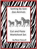 Zoo Animals Cut Paste Sorting Special Education Autism Resources  Fine Motor