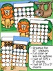 Zoo Sticker Incentive Charts - Full Color and Less-Ink Options