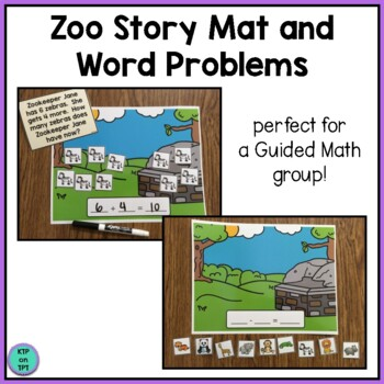 Zoo Story Mat And Word Problems Simple Addition And