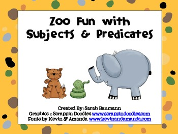 Zoo Subjects & Predicates Center