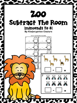 Zoo Subtract The Room (Minuends to 8)