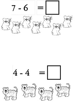 Zoo Subtraction Book