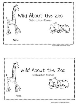 Zoo Subtraction Word Problem Book