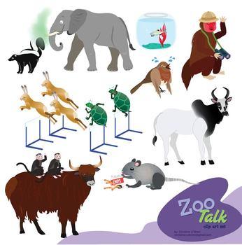 Zoo Talk Clip Art Set