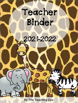 Zoo Teacher Binder {FREE yearly updates!}