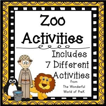 Zoo Theme Activities Bundle
