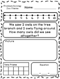 Zoo Theme Addition & Subtraction Word Problems (Kindergarten/First)