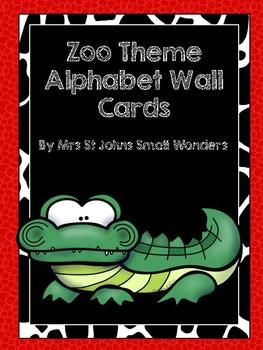 Zoo Theme Alphabet Wall Cards