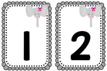 Zoo Theme Circle Time Cards