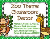 Zoo Theme Classroom Decor