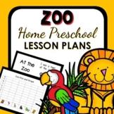 Zoo Theme Home Preschool Lesson Plans