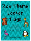 Zoo Theme Locker Tags