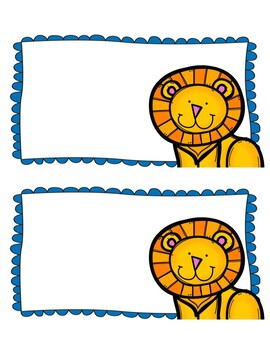 Zoo Theme Locker Tags